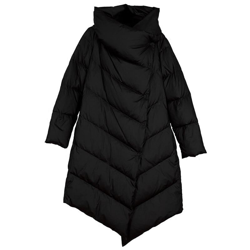 2017 Winter Women Fashion Loose Down Jacket High Quality Women Long Down Parkas