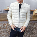 HOT!new arrival 2017 hight quality s02 winter large fur collar luxury zipper PU men leather jacket black & white free shipping