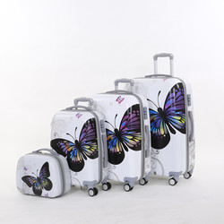 Wholesale 14 20 24 28inches 4pieces set female pc butterfly hardside trolley luggage set on universal.jpg 250x250