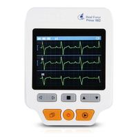 THGS Heal Force ECG Heartrate Monitor 180D Color Electrodes Measurement ECG Waveform