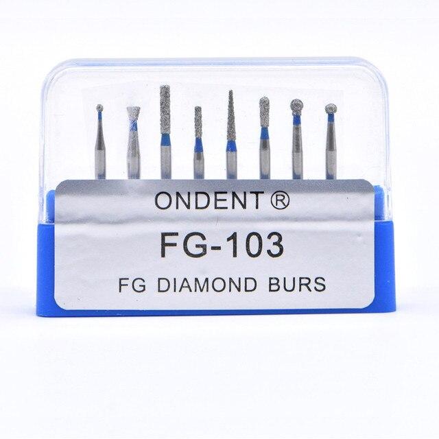 Dental Diamond Burs Drill Dental Burs Dia-burs for High Speed Handpiece Medium FG105 106 Dental Tools Dentistry Lab 5
