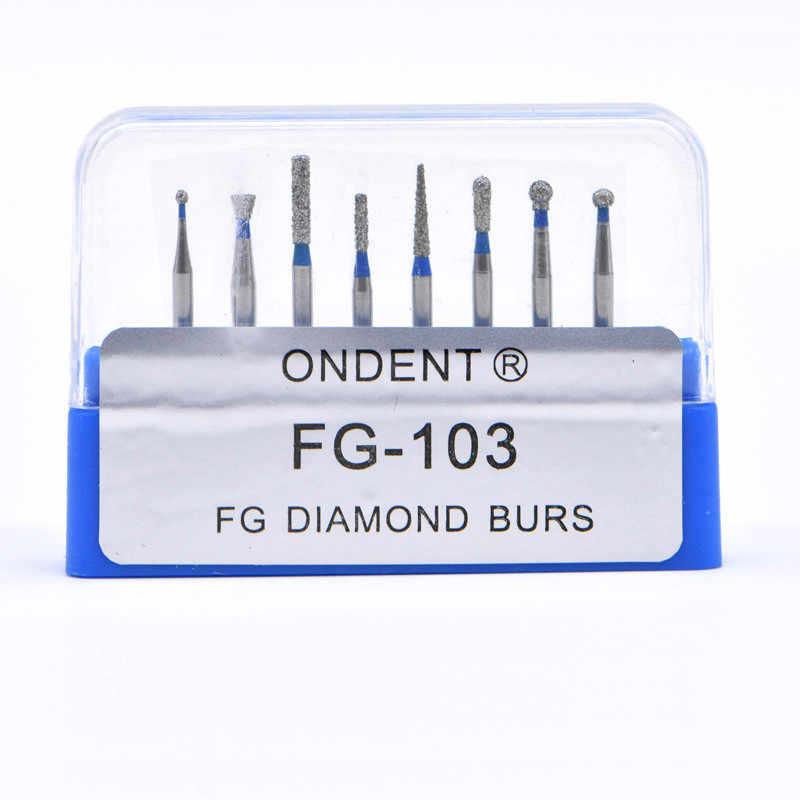Fresas de diamante Dental, fresas dentales, dia-fresas para alta velocidad, pieza de mano mediana FG105 106, herramientas dentales, laboratorio de odontología