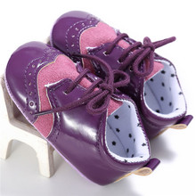 Handsome Solid Infant Baby Boy Girls Soft Sole PU Leather First Walkers Crib Shoes Moccasins Bebe