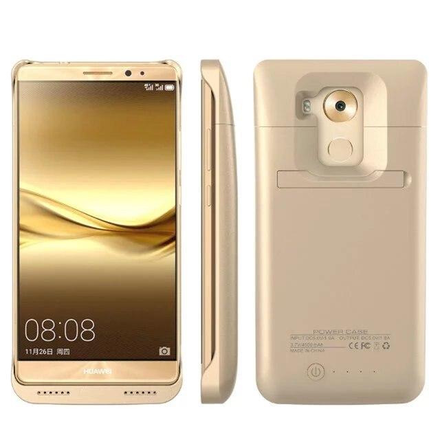 50 шт. 4500 мАч Случае Мощность Портативное Мобильное Зарядное Устройство Внешнего Резервного Аккумулятор для Huawei Mate 8 с Kickstand