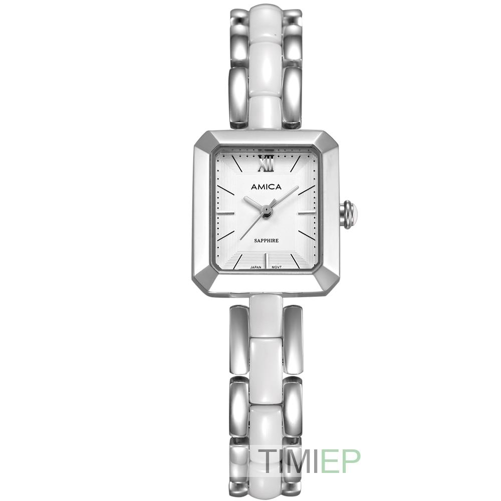 ФОТО Amica Women's D-Ceramics Quartz Sapphire Stainless Steel Wrist Watches A-4-3