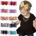 Stripe Big Sequined Bow Headband Newborn Hair Band Cute Bow Turban Hair Accessories