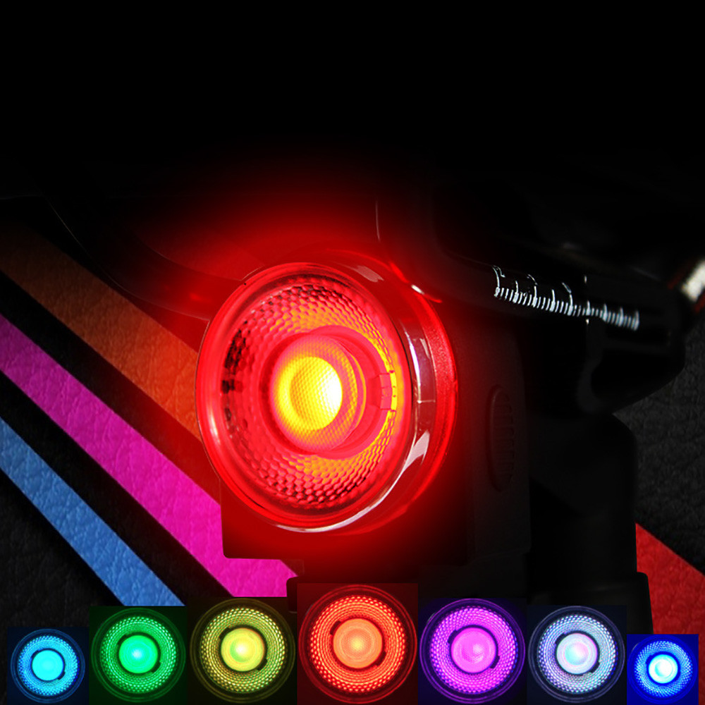 Meglio Neon O Led bicycle tail lights usb rechargeable smart colorful road