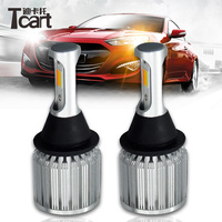 Tcart PY21W Bau15s Bulbs Car LED Light White Yellow Color Turn Signal Lamps Daytime Running Lights For Honda Civic 2006