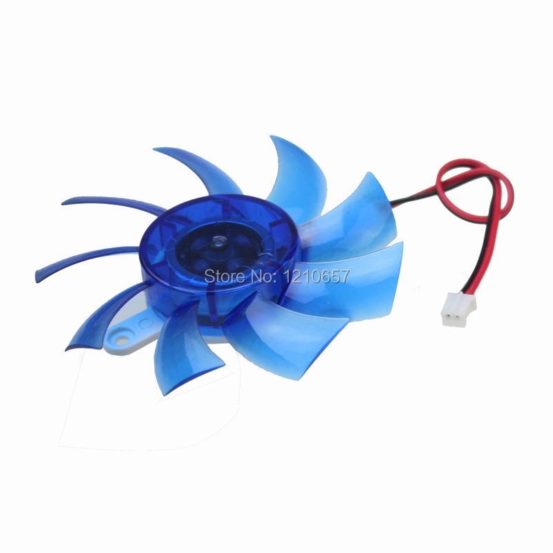 5 Pieces lot 75mm 2pin Cooling Fan For VGA Video Graphics Card Cooler Blue  new fitstd 75mm fd7010h12s fd8015u12s dc 12v 0 35a 0 5amp 4pin graphics video card cooling fan