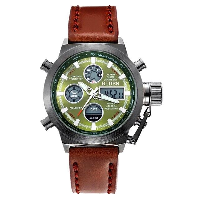 2018 Watches men luxury brand Sports dive 50m LED Military watches Genuine fashion casual quartz watch relogio masculino