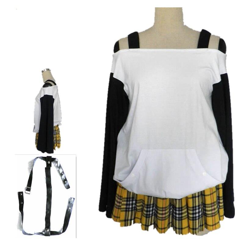 Anime Rosario + Vampire Mizore Shirayuki Cosplay Costume School Uniform and for Child Girl Women