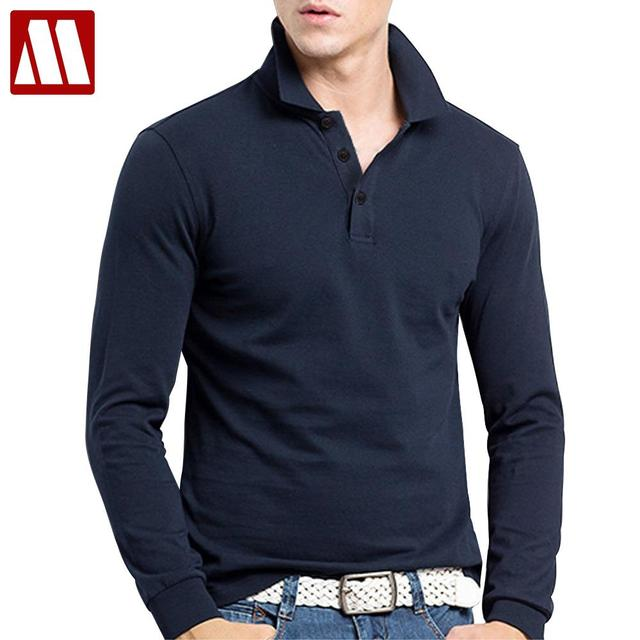 2018 New Fashion Brand Men Clothes Solid Color Long Sleeve T Shirt Man Leisure Cotton T-Shirt Casual King size T Shirts XS-XXXL