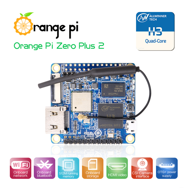 Orange Pi Zero Plus 2 H3 Quad-core WIfi Bluetooth, mini PC ,Support Android, linux, Beyond  Raspberry Pi