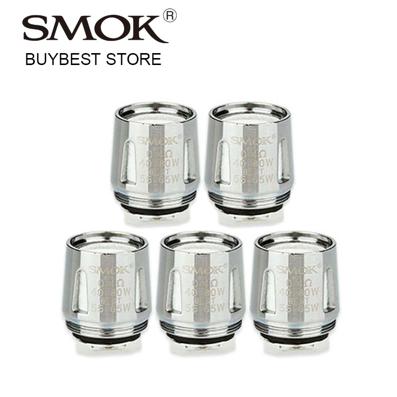 5pcs SMOK V8 Baby-Q2 Dual Core 0.4ohm/0.6ohm Coil Head for TFV8 Baby/Big Baby Tank Atomizer fit Standard Edition