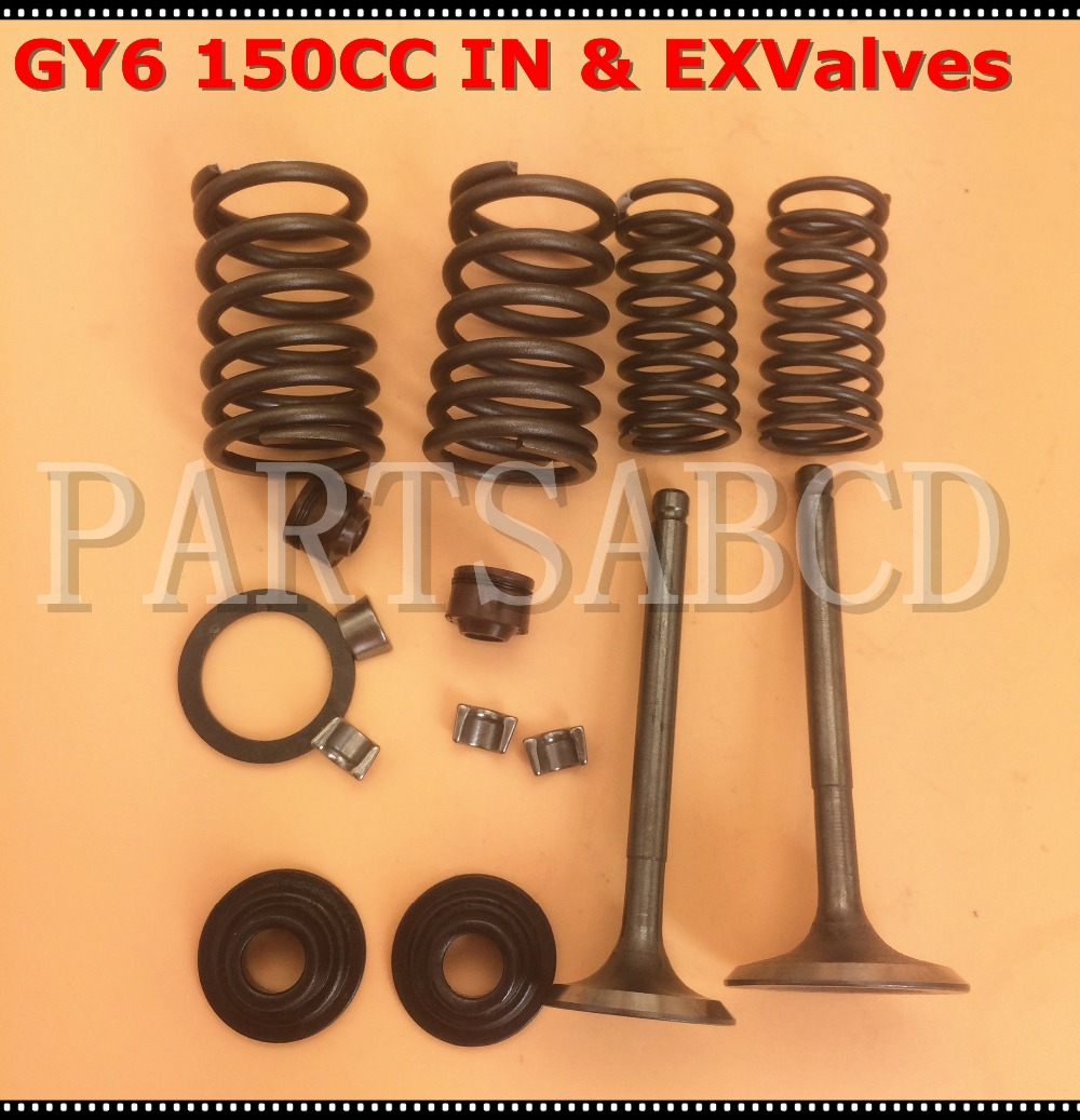 Gy6 125cc 150cc Inlet Exhaust Valve Set For 125cc 150cc Scooter Atv Moped Go Kart Easy To Repair Back To Search Resultsautomobiles & Motorcycles