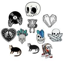 Broches de vampiro xio mara, bottons e broches de esqueleto, joias de halloween, presente para amigos