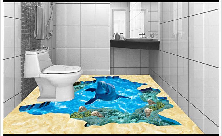 Customized 3d photo wallpaper 3d floor painting wallpaper Underwater world 3D bathroom floor tiles living room decoration customized 3d photo wallpaper 3d floor painting wallpaper 3 d stereo floor tile only beautiful flowers 3d living room decoration