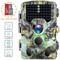 Photo trap 16MP Night vision 2.4LCD Thermal imagers for hunting wild camera traps foto 1080P 46 Infrared Detection camera IP56