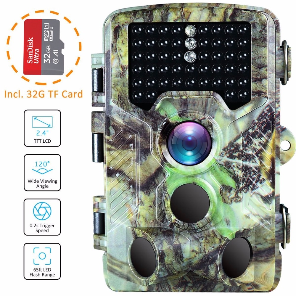 Photo-trap 16MP Night vision 2.4LCD Thermal imagers for hunting wild camera traps foto 1080P 46 Infrared Detection camera IP56Photo-trap 16MP Night vision 2.4LCD Thermal imagers for hunting wild camera traps foto 1080P 46 Infrared Detection camera IP56