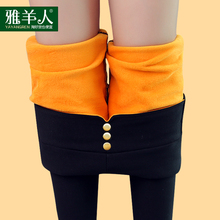 Plus velvet thickening legging pants pencil black high waist autumn and winter thermal trousers winter