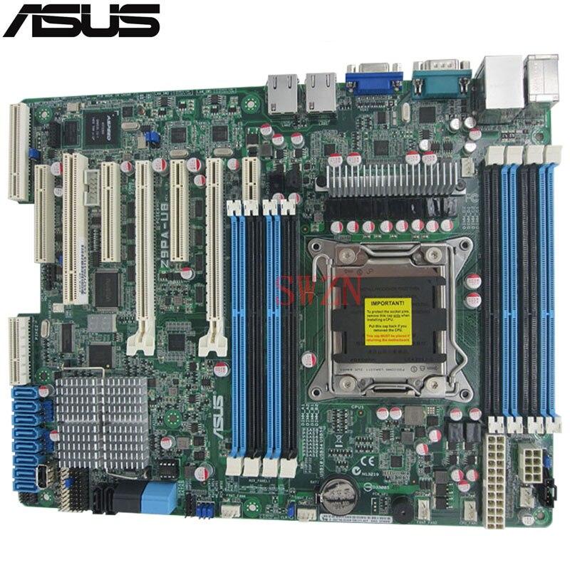 original Used Server motherboard For ASUS Z9PA-U8 C602 Support 2011 E5-1600/E5-2600 Maximum DDR3 256GB 2*SATAIII 4*SATAII ATX original server board z9pa d8 double cpu c602 chip 2011 pins