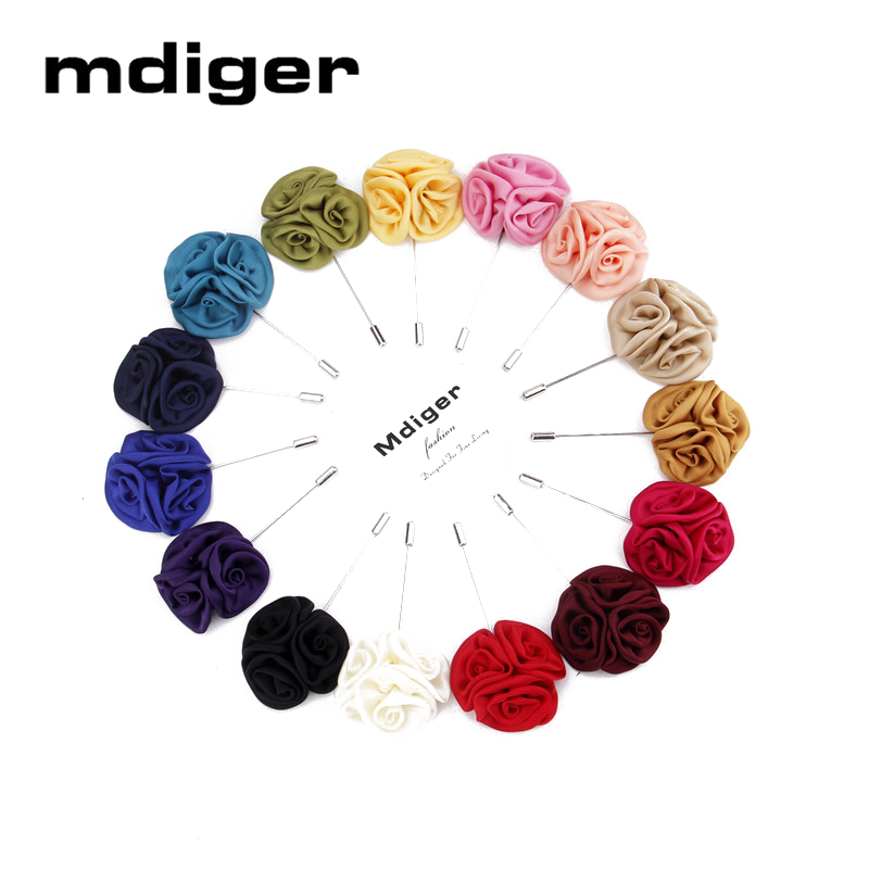 Mdiger Jewelry Flower Brooches Men Lapel Pins 12 PCSLOT