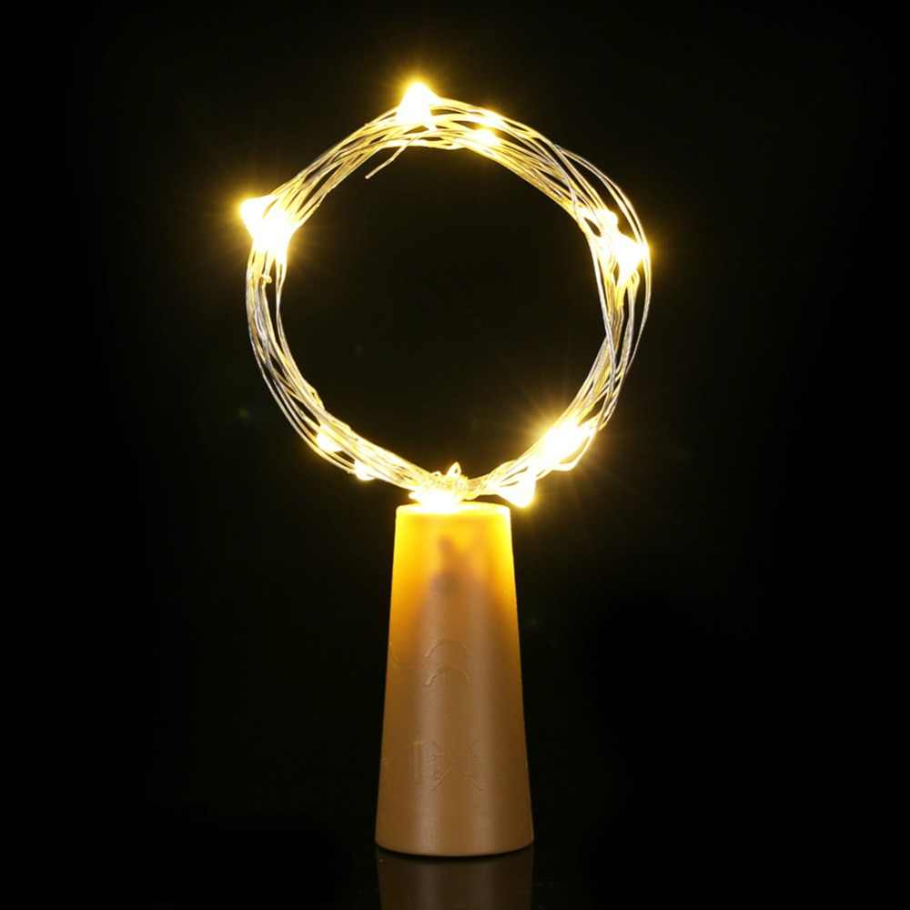 Cuerda de alambre de cobre con tapón de botella luces Led decoración 10 m 10LED lámpara de hadas fiesta hogar Navidad boda decoración