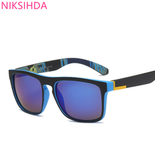 NIKSIHDA   2019 New European and American Sports Polarization Sunglasses Retro-Ancient Men's Sunglasses UV400 niksihda 2019 european and american pop polarized sunglasses fashion sunglasses anti ultraviolet sunglasses uv400