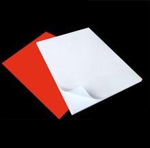 50 ورقة 50 ورقة عالية الجودة مقاومة للماء ذاتية اللصق A4 فارغة أبيض/أحمر الفينيل ملصق تسمية ورقة للطابعة بالليزر