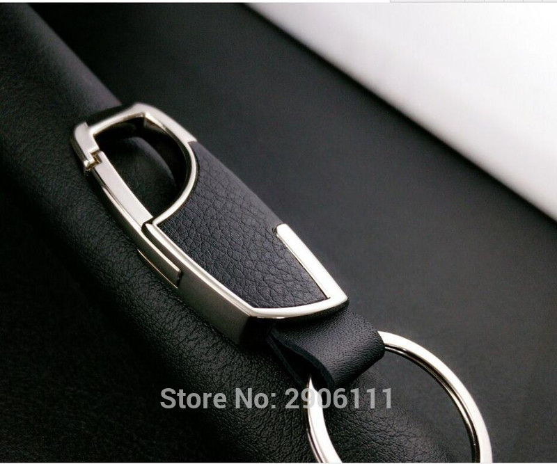 car styling Leather Key Chain Metal Car Key Ring Multifunctional Tool Key Holder for Cadillac srx cts ats escalade sts dts bls
