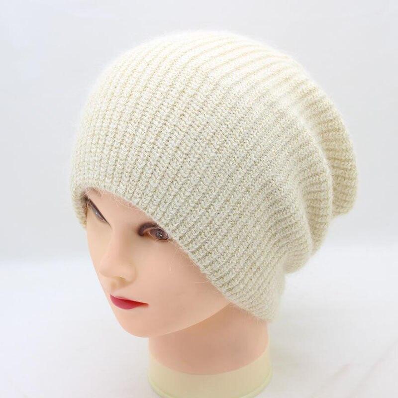 BING YUAN HAO XUAN Simple Beanie Gold Wire Hat for Women Winter Rabbit Hair Hat Skullies Hot Gravity Falls Cap Gorros Cap Female in Men 39 s Skullies amp Beanies from Apparel Accessories