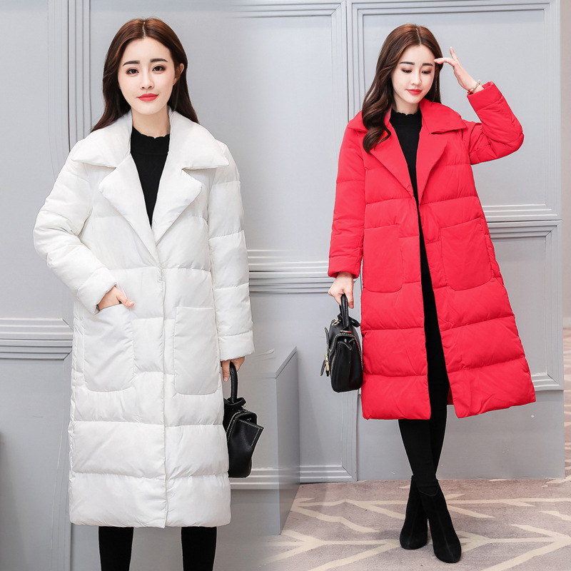 Winter Cotton Jacket Women Long Coat Parkas Thickening Female Warm Clothes Two Pocket children winter coats jacket baby boys warm outerwear thickening outdoors kids snow proof coat parkas cotton padded clothes