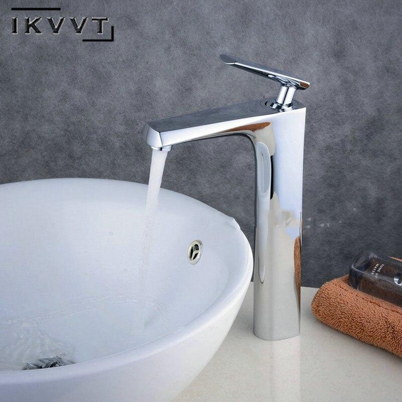 Robinets populaires contemporains en laiton Robinet de salle de bain robinets d'évier froid et chaud multi-couche placage Torneiragrifo Lavabo Robinet Kraan
