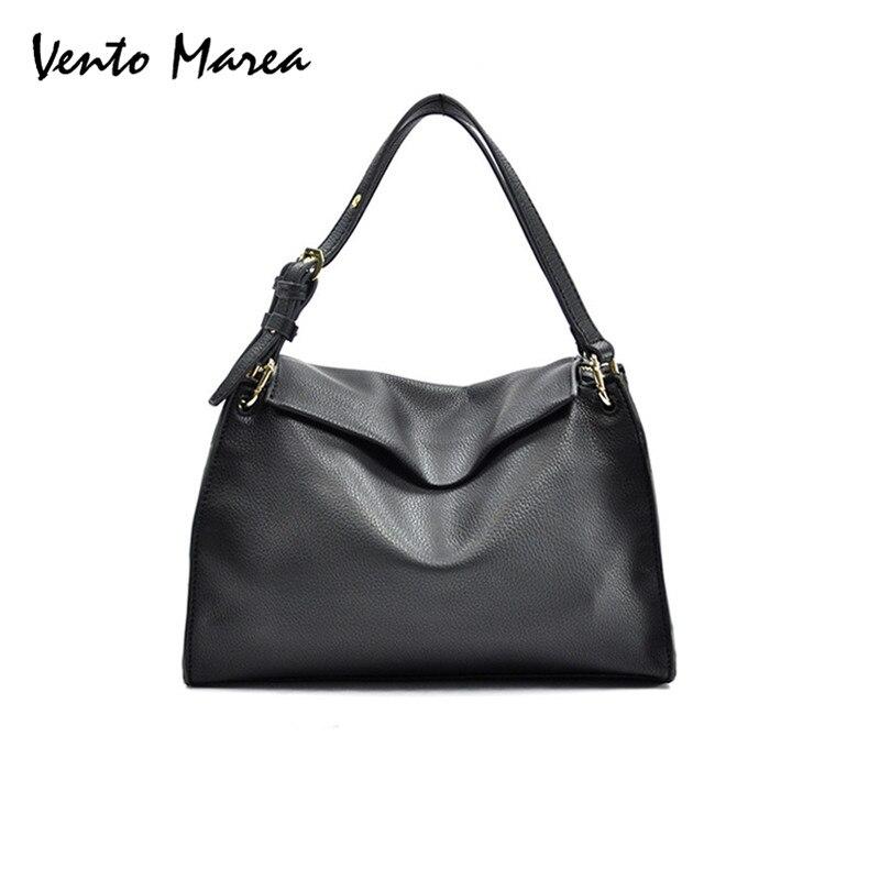 Tote Bags For Women HandBags 2017 Fashion Style Black Shoulder Bag Lady Casual PU Leather Cross Body Borsa Vento Marea