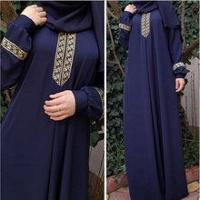 Women Muslim Dress 2019 TOP Plus Size Print Abaya Jilbab Maxi Casual Kaftan Long