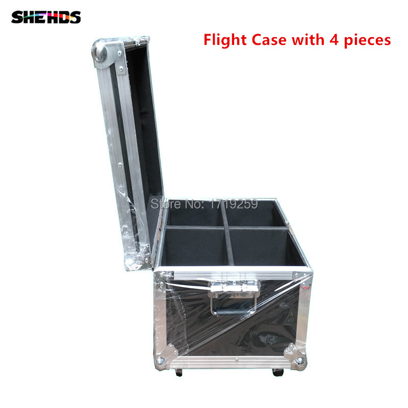 Flight Case with 4 pieces LED 12x 12W RGBW Beam Moving Head Light ,Good for Party DJ DMX ,or Flight Case with 2pcs/6pcs/8pcs