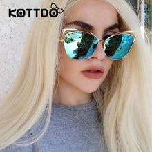 2017 Classic Cat Eye Metal Women Sunglasses Brand Designer Retro Vintage Glasses Sunglasses Women Mirror Rose Gold Oculos de sol