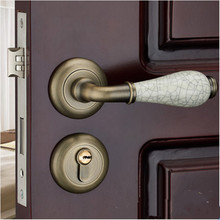 Европейский vintge комнатные деревянные двери замки, античная латунь античная медь золото керамическая дверь спальни замки кухня дверные замки