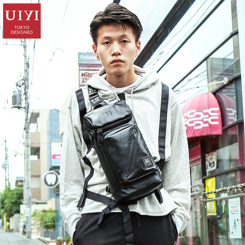 UIYI Men Leather Cross body Bags Casual Messenger Bag For Male Small Designer Male Shoulder Bag Fashion Chest Pack Men Handbags стоимость