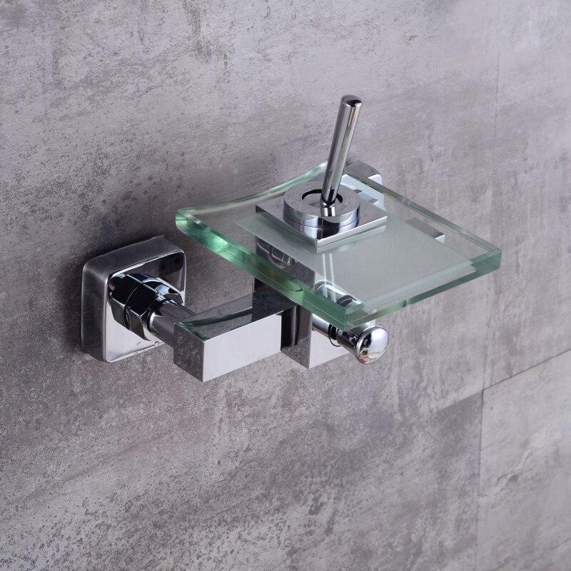 Robinet en verre et en laiton robinet mural pour salle de bain mitigeur moderne cascade baignoire robinet LH-8003