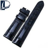 Pesno подходит для Chopard яркий черный ремешок из кожи крокодила 18 мм Для женщин часы аксессуары Высокое качество ремешок для часов