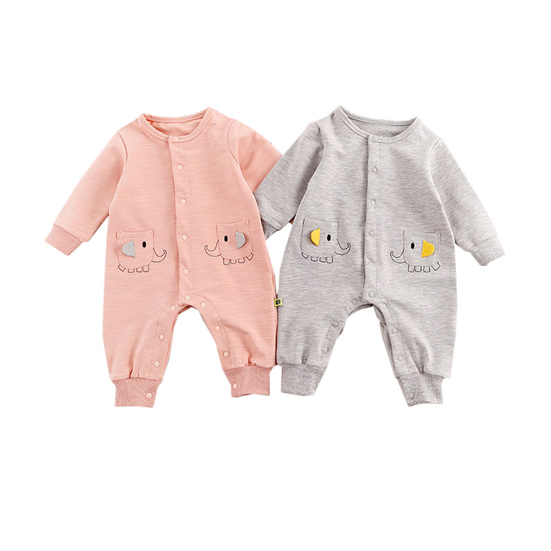 Kids Baby   Rompers   Cute Animals Boys Girls Long Sleeve One-pieces Spring Autumn Single Breasted Clothes Newborn Infant Jumpsuit