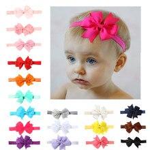 Повязка на голову для новорожденных; повязка на голову для маленьких девочек; аксессуары для волос для младенцев; тканевый галстук-бабочка; головной убор; Тиара; подарок для малышей; повязка на голову