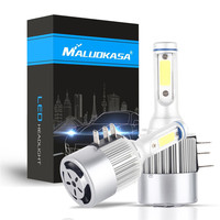 MALUOKASA 2PCs H15 Car LED Headlight Bulb 72W 6500K DC9V 16V All In One New Design