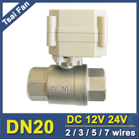 TF Electric Stainless Steel Valve TF20 S2 B 2 Way DN20 Full Port 3 4 Actuator