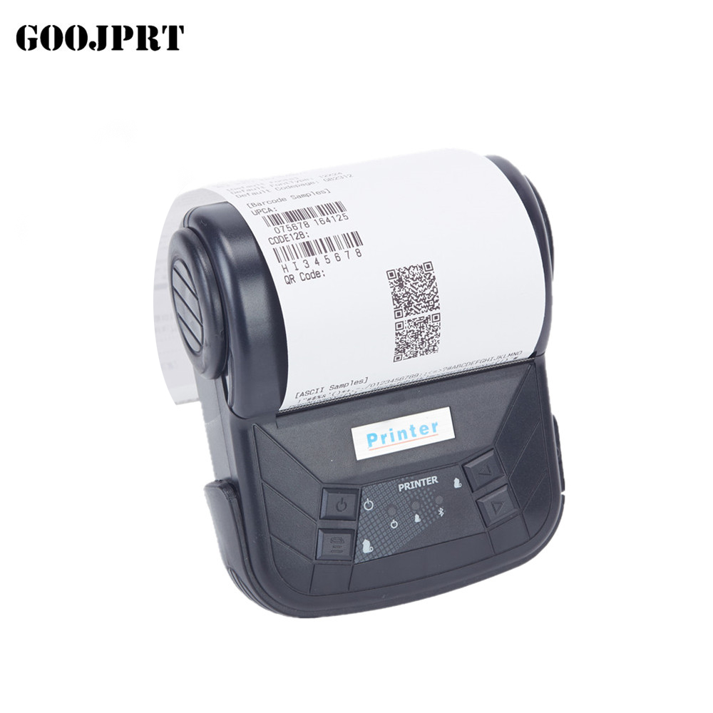"""GOOJPRT 3"""" 80mm Mini Bluetooth Thermal Receipt Printer Portable Bluetooth Printer Support Android IOS Maquina de Recibos Termico-in Printers from Computer & Office    1"""
