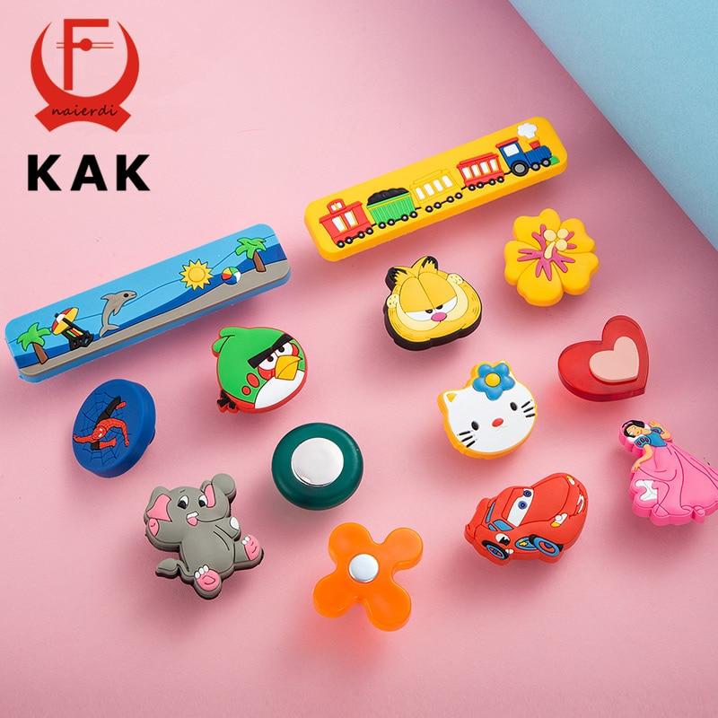 KAK 10 Teile Los Soft Rubber Kinderzimmer Mbel Griffe Cartoon Kabinett Schrank Neuheit Mode