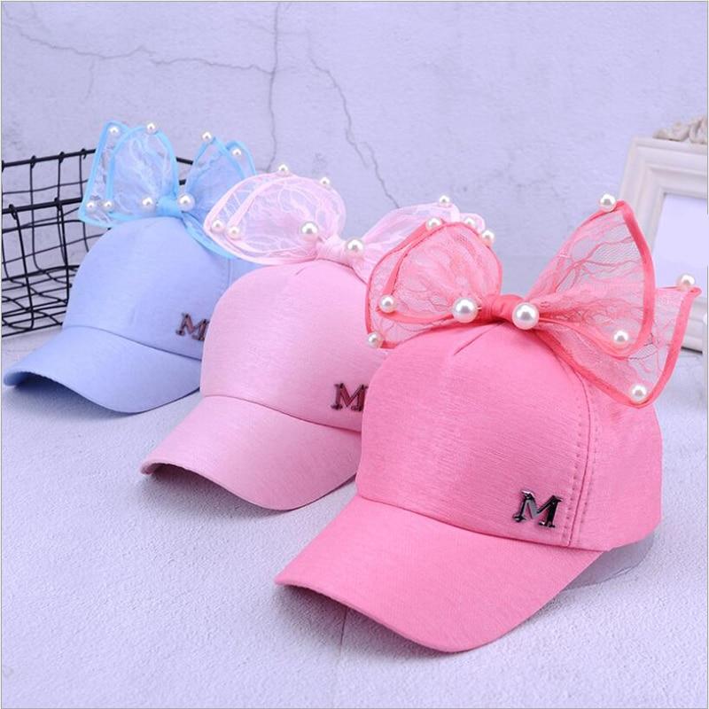 2018 Big Bow New New Baseball Cap Bukuroshe Koreane Fëmijë Vajzat - Aksesorë veshjesh - Foto 2
