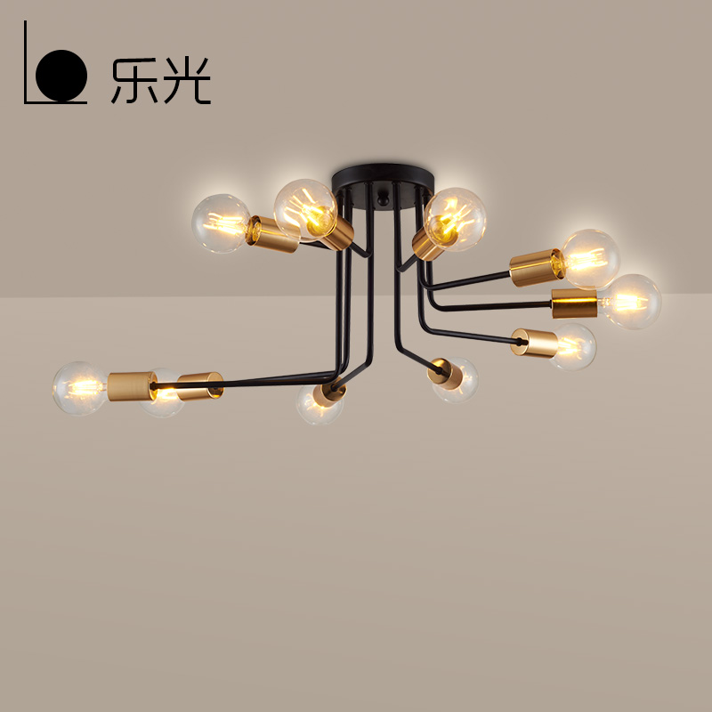 Capable Nordic Modern Style Glass Ball Iron Branch Ceiling Light Living Room Restaurant Bedroom Lamp Pretty And Colorful