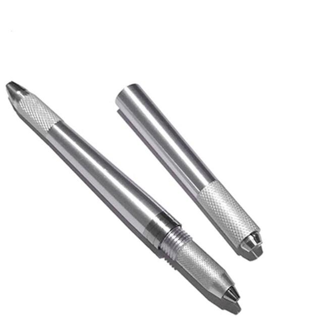3 In 1 3D Eyebrow Tattoo Pen Machine Professional Tebori Microblading Pen Eyebrow Permanent Makeup Machine Silver Manual 5